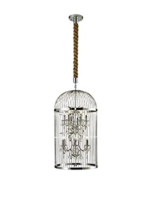 CDI Furniture Large Bird Cage Chandelier, Chrome