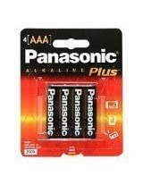 Panasonic AM-4PA/4B Alkalineplus AAA Batteries 4 Pack (Black)