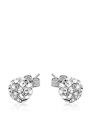 Passion Obscure Pendientes Strass Half-Ball Transparente