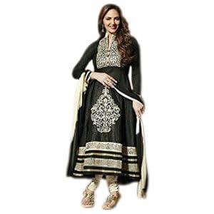 Styles Closet Esha Anarkali Suit - Black & White