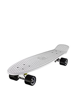 Ridge Skateboards Monopatín Big Brother Cruiser Blanco / Negro