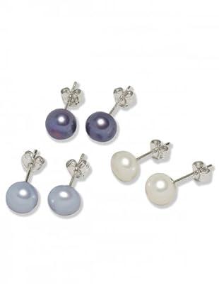 Valero Pearls 60200123 - Pendientes de mujer de plata con perla cultivada de agua dulce