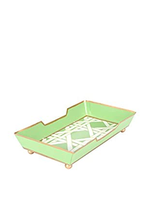 Jayes Cane Guest Towel Tray, Green