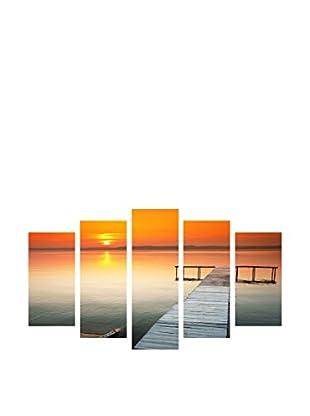 LO+DEMODA Leinwandbild 5 tlg. Set Pier Sun