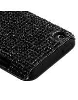 Black Diamante Fusion Protector Faceplate Cover(Diamante 2.0) For APPLE iPod touch(4th generation)