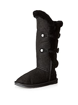AUStralia Luxe Collective Womens Nordic Angel Tall Shearling Sheepskin Boot (Black)