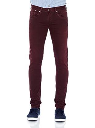 Pepe Jeans London Pantalón Hatch (Rojo Oscuro)