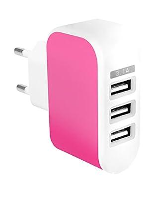 Cargador USB 1A Rosa