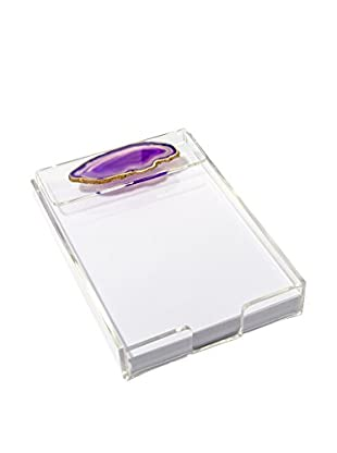Mapleton Drive Purple Agate & Acrylic Notepad Tray