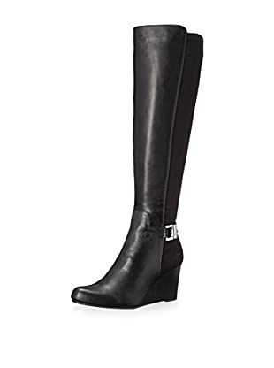 Calvin Klein Women's Sama Tall Boot (Black Wide Calf)