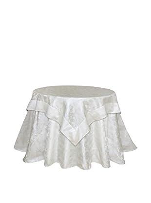 Melrose International Jacquard Snowflake Christmas Table Cloth, Cream