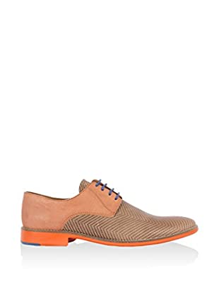 SORRENTO Derby Navy Blucher