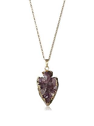 Jules Smith Amethyst Crystal Arrow Necklace