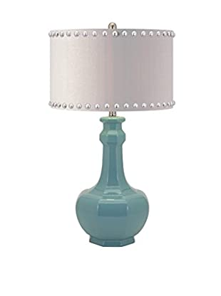 Essentials Reflective Ceramic Table Lamp, Light Blue