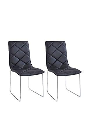 Modern Loft Stuhl 2er Set Rita A1