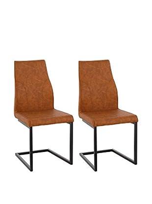 13 Casa Stuhl 2er Set Rusty A1 braun