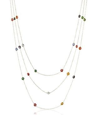 Grand Bazaar Triple-Strand Multicolor Evil Eye Necklace, Gold