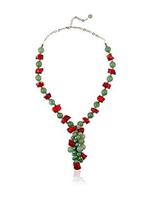 Sándalo Halskette  rot/grün