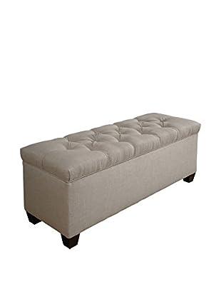 MJL Furniture Sole Secret Large Upholstered Shoe Storage Bench, Sand