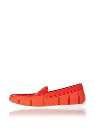 Swims Náuticos Flat Loafer (Rojo / Blanco)