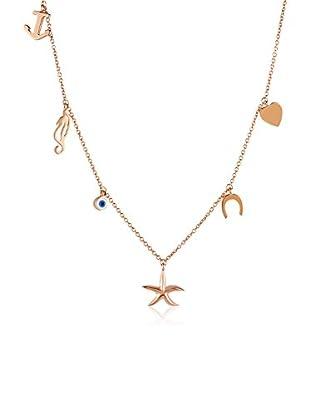Divas Diamond Collar Good Luck Eye Lucky Oro Amarillo