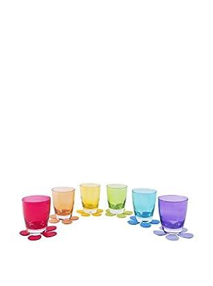 Molecuisine Glas 6er Set mehrfarbig