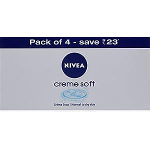 Nivea Crème Soft Soap 75 Gm (Pack Of 4)