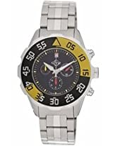 Gv2 By Gevril Parachute Chronograph Black Dial Stainless Steel Mens Watch 3000B