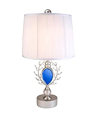 ORE International Just Dazzle 1-Light Table Lamp, Blue/Silver