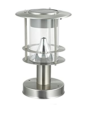 BTR-Germany Modern LED Solar Post Light, Silver