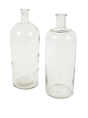 Pair of French Apothecary Jars, Clear