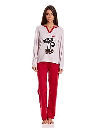 Bluedreams Pijama Sra 3 Piezas Punto (Rojo)