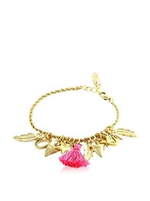 Ettika 18K Gold-Plated & Pink Charmed Life Bracelet