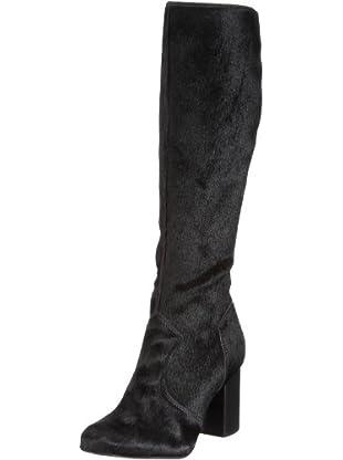 Buffalo London 20750-877 PONY HAIR 122111 - Botas de ante para mujer (Negro)