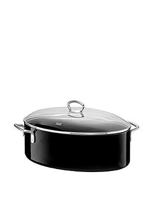 Silit 8.5-Qt. Oval Covered Roasting Pan, Black