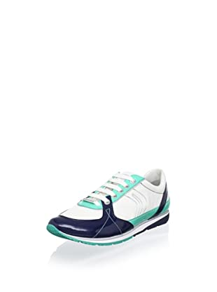 Geox Women's Wisdom A Sneaker (Navy/Aquamarine)