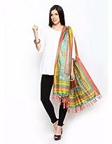 Shree Bhagalpuri Art Silk Printed Dupatta - Multicolour - VHW09-B
