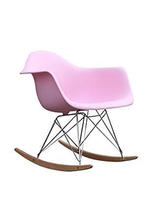 Manhattan Living Rocker Arm Chair, Pink