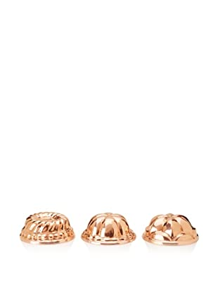 Ruffoni Stampi Collection Copper 3-Piece Round Mold Set