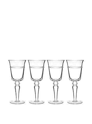 Artland Set of 4 Juniper 10-Oz. Goblets, Clear