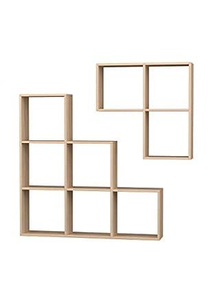 Mobito Design Bücherregal 2er Set Portion