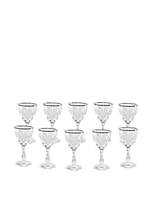 Uptown Down Set of 10 Previously Owned Starburst Wine Goblets