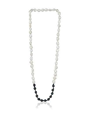 Bentelli Collar Pearls Blanco / Negro