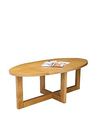 Regency Oval Veneer Coffee Table, Medium Oak
