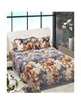 Beautiful Queen Size Bedsheets -Floral Design - Gray Color