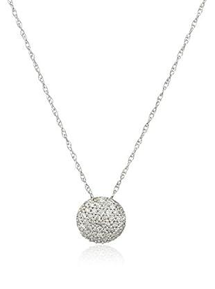 Bentelli Conjunto de cadena y colgante 9K Gold 0.18Ct Diamonds Oro Blanco