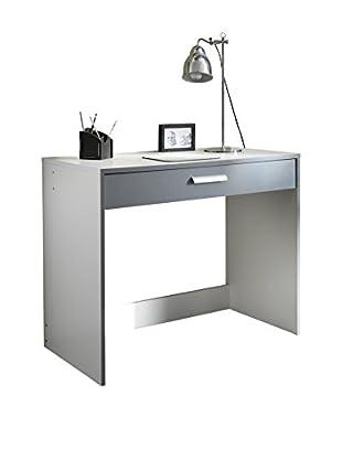 Office Ideas Schreibtisch Domino D12  weiß/grau