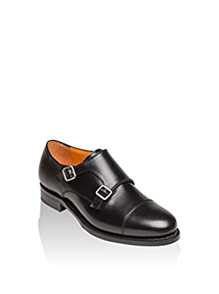 British Passport Monkstrap Toe Cap Box Calf