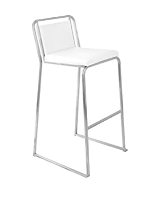 LumiSource Cascade Bar Stool, White
