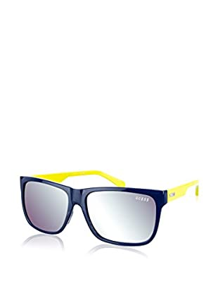 Guess Occhiali da sole 6838-90Q (57 mm) Blu Navy/Giallo